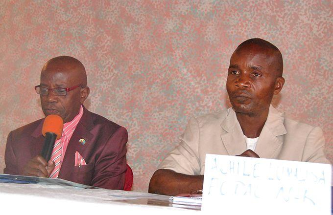 Achile Mbusa Lumalisa, président  de la Fédération des organisations  des producteurs agricoles du Congo  au Nord-Kivu. Photo: M. K. Saliboko