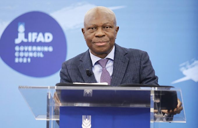 Gilbert Fossoun Houngbo est à la tête du Fonds international pour le développement agricole depuis 2017. Photo: Fida