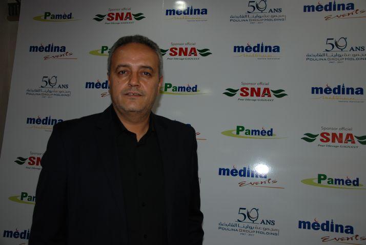 Hamdi Souissi, directeur du salon Pamed, de Yasmine Hammamet, en Tunisie. Photo : AH