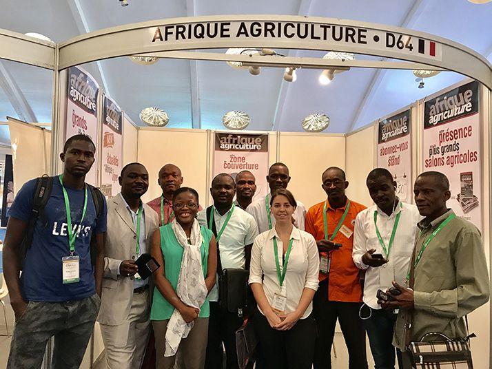Les minoteries d'Afrique subsaharienne en visite sur le stand d'Afrique Agriculture ! © NKB