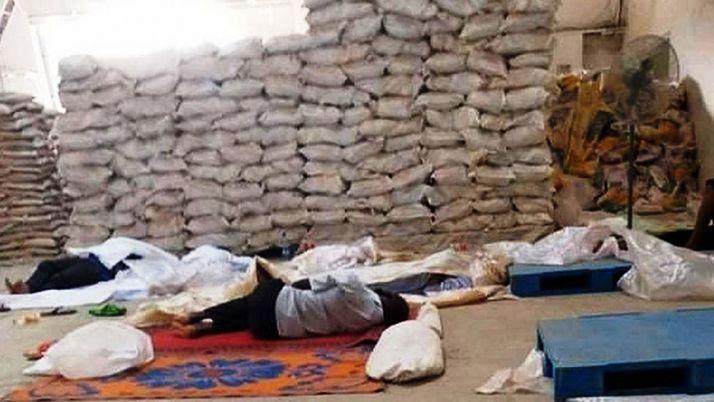Les travailleurs de l'usine Popular Farms ont continué à travailler pour 13dollars de plus par mois pendant le confinement. Photo: Daouda Aliyou