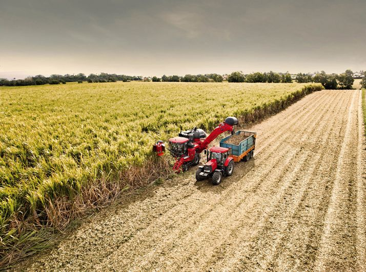 Démonstration de récolte avec l'Austoft 8000 au Mozambique, début avril. Photo : Case IH