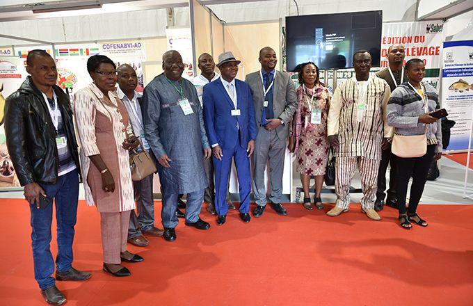 Le ministre de l'Élevage du Burkina Faso et sa délégation en visite au Sommet de l'Élevage 2019. Photo : Sommet de l'Élevage