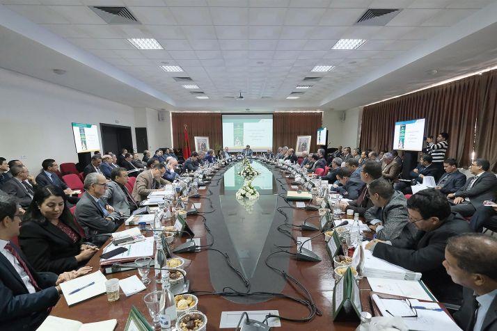 Réunion du conseil d'administration de l'Agence pour le développement des zones oasiennes et de l'arganier en décembre 2019 à Rabat. Photo : MAM