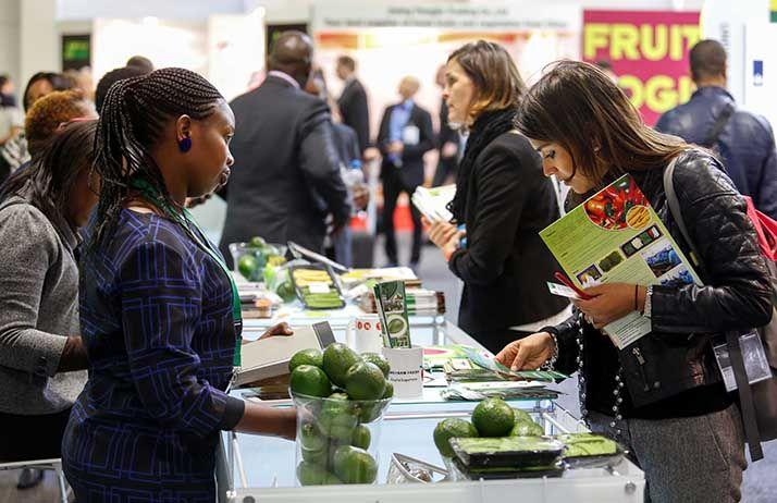 Stand de producteurs kenyans à Fruit Logistica 2017. © Fruit Logistica