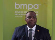 Kobenan Kouassi Adjoumani, ministre de l'Agriculture de Côte d'Ivoire lors de sa visite de travail à la BMPA fin juillet. Photo : MACI