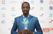 Yves Laurent Brou reçoit le prix Spécial OCP Agritech au SOTYA à Casablanca, le 25 Janvier. (source OCP)